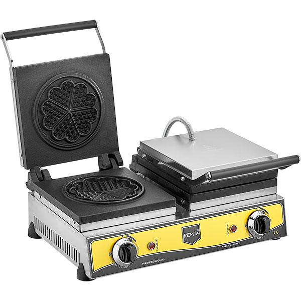 Remta - Çiçek Model Çiftli Waffle Makinesi