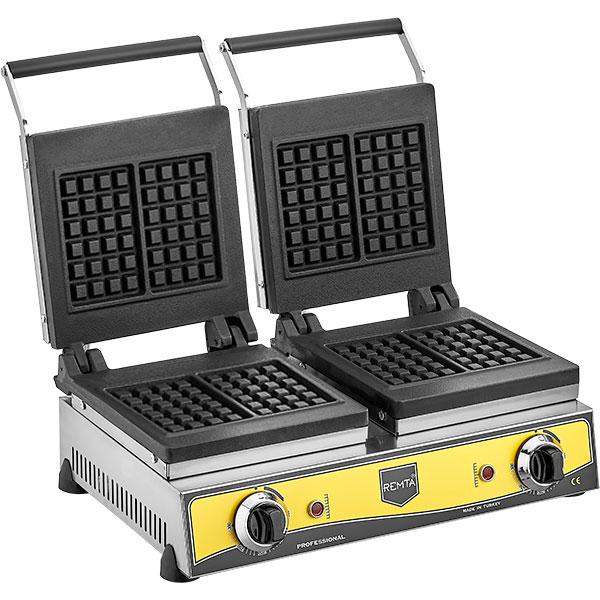 Remta - Kare Model Çiftli Waffle Makinesi